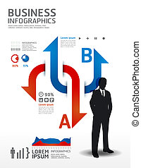 concept, illustration., business, /, vecteur, infographics