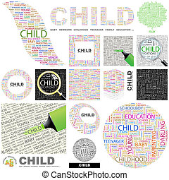 concept, illustration., child.