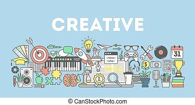 concept, illustration., créatif