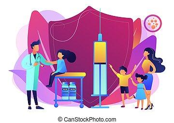 concept, illustration., inenting, vector, tieners, preteens