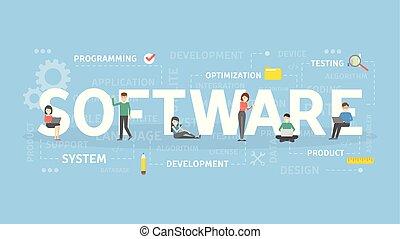 concept, illustration., logiciel
