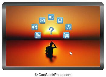 Concept Illustration of Digital Dementia