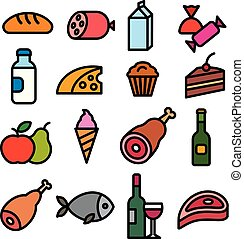 food grocery icons