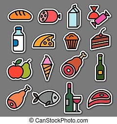 food grocery stickers