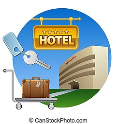 hotel service icon - concept illustration of the hotel ...