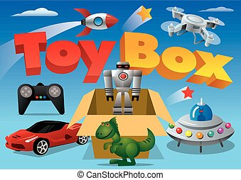 toy box for advertising