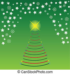 Concept image of a Christmas Tree