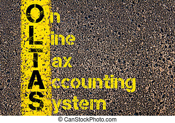 Accounting Business Acronym OLTAS On-Line Tax Accounting System
