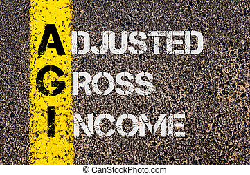 Business Acronym AGI as Adjusted Gross Income - Concept...