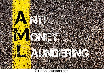 Business Acronym AML Anti Money Laundering - Concept image ...