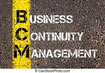 Business Acronym BCM