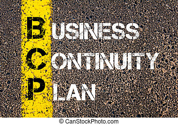 Business Acronym BCP Business Continuity Plan - Concept...