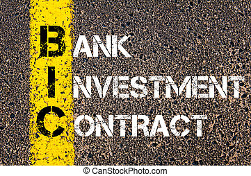 Business Acronym BIC Bank Investment Contract - Concept ...