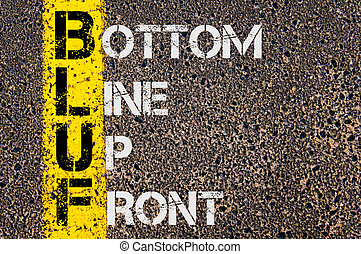 Business Acronym BLUF as Bottom Line Up Front - Concept ...