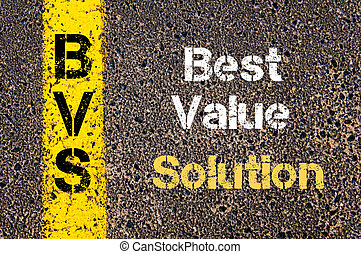 Business Acronym BVS Best Value Solution