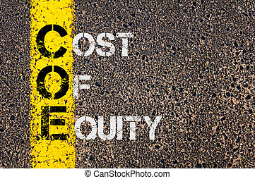 Business Acronym COE as Cost Of Equity