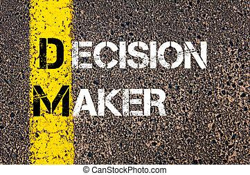 Concept image of Business Acronym DM Decision Maker