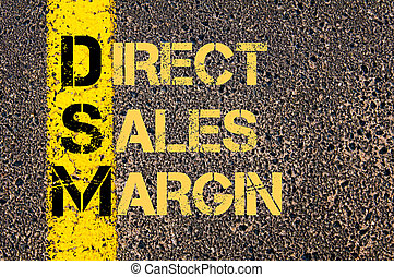 Business Acronym DSM as DIRECT SALES MARGIN