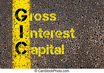 Business Acronym GIC as Gross Interest Capital