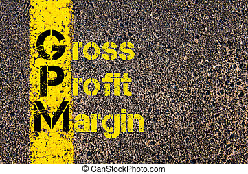 Business Acronym GPM as Gross Profit Margin