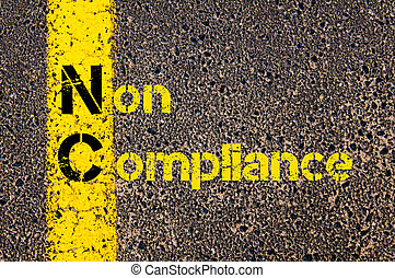 Business Acronym NC as Non Compliance
