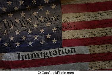 concept, immigration, nous