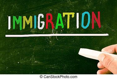 concept, immigration