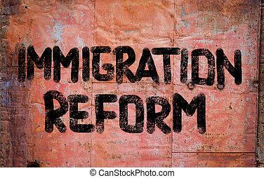 concept, immigration, reform