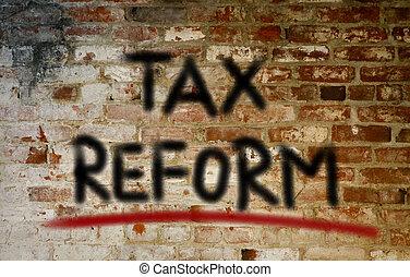 concept, impôt, reform