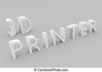 concept, imprimante, 3d