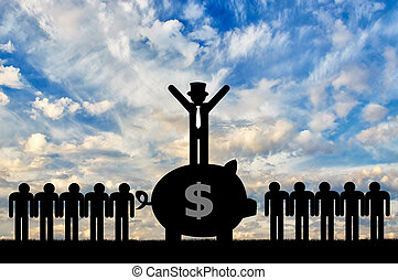 concept, inégalité, économique