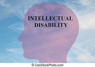 concept, incapacité, mental, intellectuel