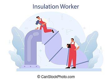 concept., indústria, insulation., isolação, ou, acústico, térmico, construção