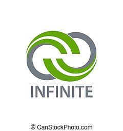concept, infinité, nature, science, conception, gabarit, logo, vert