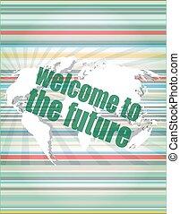 concept, info, bubble., trend, ontwerp, stijl, vector, toespraak, digitale , tekens, testimonials, concept:, 3d, plat, welkom, scherm, woorden, lijn, prijsopgave, kennisgeving, citaat, textbox., toekomst, mager, tijd