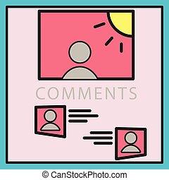 concept, inscription, photo, soi, comments, illustration, social, networks.