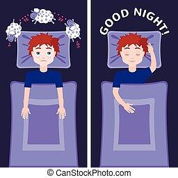 concept., insomnio, sueño