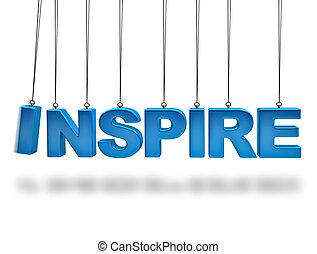 concept, inspirer, alphabet, balles, équilibrage, 3d