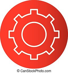 concept, instellingen, vrijstaand, achtergrond, vector, logo, witte , pictogram