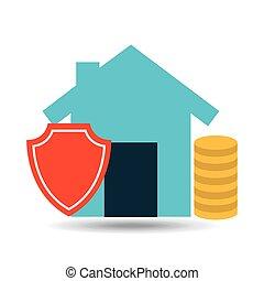 concept insurance house money security design