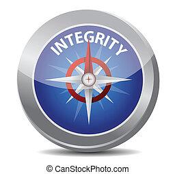 concept, intégrité, compas
