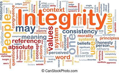 concept, intégrité, principes, fond