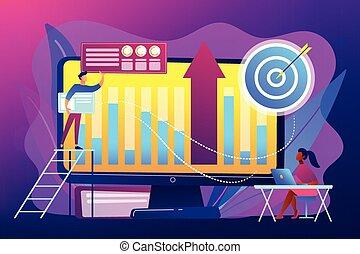 concept, intelligence, vecteur, illustration., business