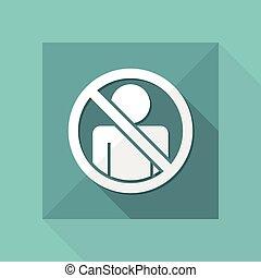 """concept"""", interdit, isolé, illustration, unique, vecteur, """"access, dépeindre, icône"""