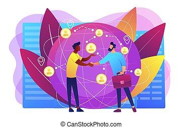 concept, international, vecteur, illustration., business