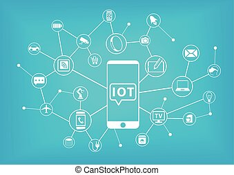concept, (internet, iot, things)