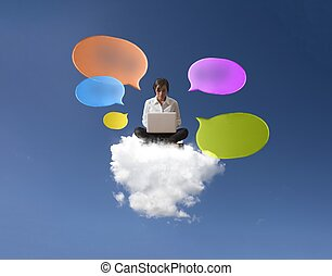 concept, internet, réseau, social