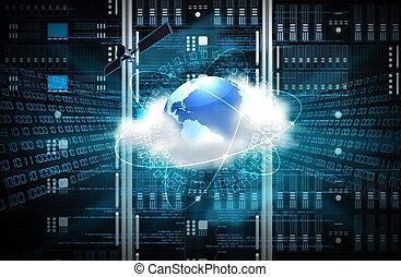 concept, internet, serveur
