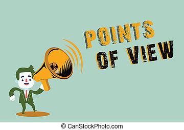 concept, interprétation, texte, perspicacité, écriture, signification, individu, opinion, écriture, évaluation, vue., points