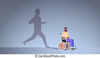 concept, invalide, verbeelding, dromen, schaduw, herstel,...